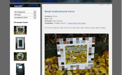 Mosaic Art Website
