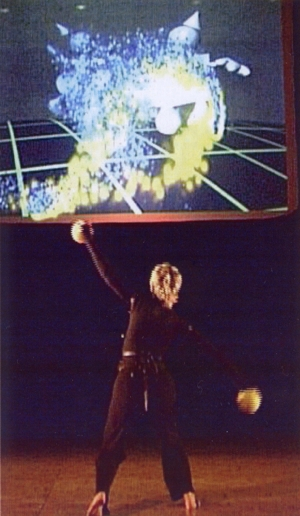 Jennifer Fleenor of Counterbalance in performance at the closing ceremonies of AAATE2003