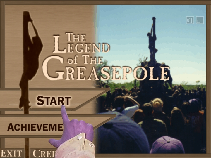 Legend of the Greasepole Title Screen