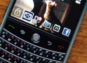 New Front Screen on the Blackberry Bold