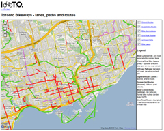 Toronto Cycling Map
