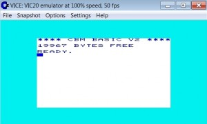 VICE Vic-20 Emulator on Windows