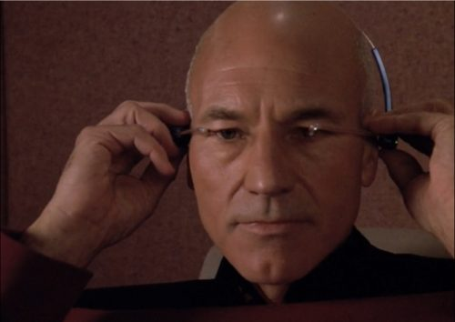 "Captain Picard playing ""The Game"""
